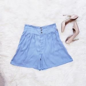 Free People Shorts - Free People Brittany Long Beach Light Blue Short